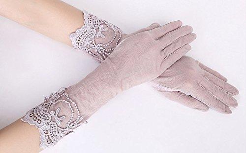 formanism エレガント レース使い 夏用 紫外線カット 外出 日焼け防止 サマー手袋 レディース (E)