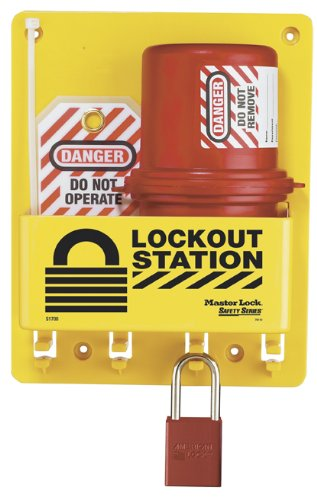 Master Lock Electrical Plug Lockout Center, Includes 1 Aluminum ()