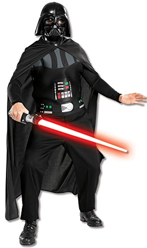 Rubie's Costume Star Wars Darth Vader Mask and Chestpiece, Black, One (Nerd Box Costume)