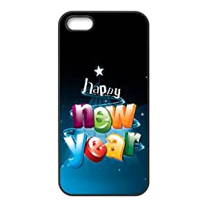 Happy New Year 3D Letters iPhone 4 4s Cell Phone Case Black Exquisite gift (SA_479540)