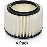 4 Pack of Craftsman Wet/Dry Vac Filter Replacement for 3&4 Gal Part# 17810