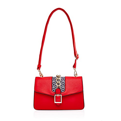 Dual BBFB363 Barbie Adjustable Classic Use Shoulder Simple Series Classic body Contrast Design Bag Strap Chain Cross Bag Color vgxvrTw8