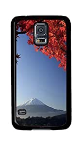 Samsung Galaxy S5 Case, S5 Cases - Mount Fuji Japan In Autumn Ultimate Protection Scratch Proof Soft TPU Rubber Bumper Case for Samsung Galaxy S5 I9600 Black