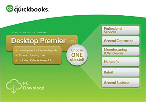 : QuickBooks Desktop Premier 2017 with Industry Editions Small Business Accounting Software [Old Version]