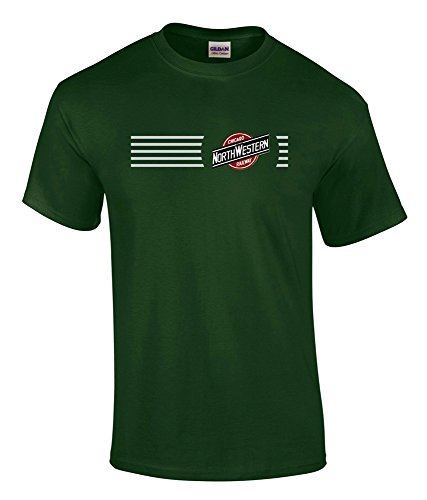Chicago and Northwestern Logo Tee Shirt Forest Green Adult 2XL [tee17]