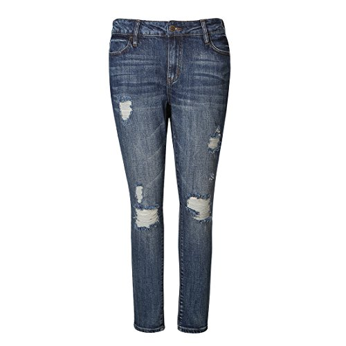 MSSHE Women's Plus Size Ripped Jeans Destroyed (Destroyed Boyfriend Jean)