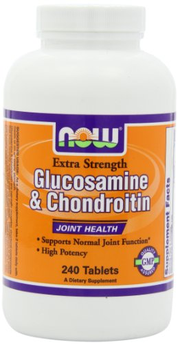 NOW Foods Extra Strength Glucosamine et chondroïtine sulfate, 240 comprimés