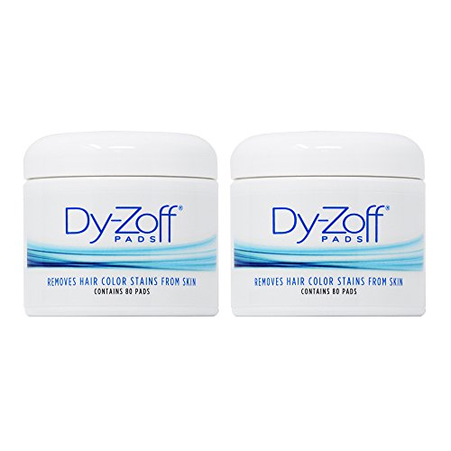 King Research Dy-Zoff Pads Removes Hair Color Stains From Skin 80 Pads (Pack of 2) by King Research