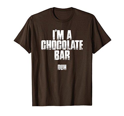 I'm A Chocolate Bar Duh Funny Sarcastic Halloween Shirt]()