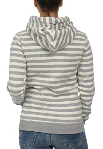 Superdry Zipper Damen APPLIQUE ZIPHOOD Pacific Grey Marl Stripe