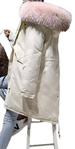 Oversized Coat Thick Down Women Jacket security Puffer Winter 3 Faux Fur Hood 0aZqpwf