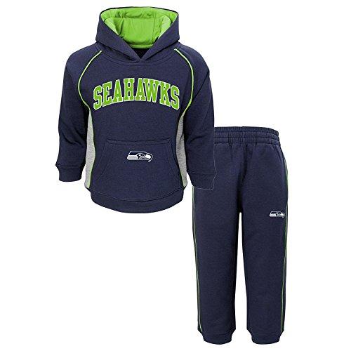 Outerstuff NFL Seattle Seahawks Boys Lil'fan Fleece Set, Dark Navy, 4T 28 Seattle Seahawks Jersey