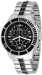 Christian Dior Men's CD114317M001 Christal Black Chronograph Dial Watch
