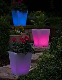 planter lighting. Solar Illuminated Planter, Small Square Planter Lighting A