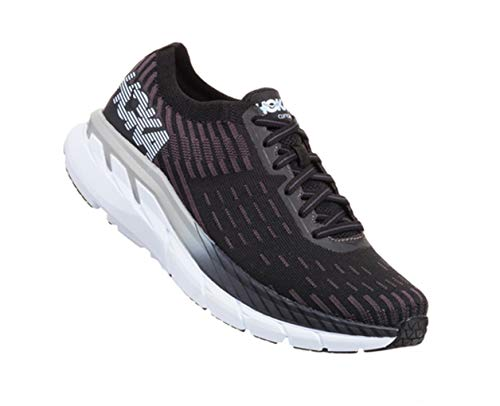 Hoka Women's Clifton 5 Knit Black/White 1094310-BWHT 11 (All White Clifton)