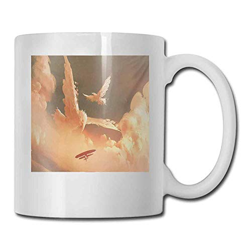 Ceramic Mug Fantasy Mythical Phoenix Bird Shaped Fluffy