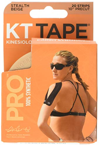 KT Tape Pro Kinesiology Athletic Tape, Latex Free, Water Resistant, Therapeutic Tape, Pro & Olympic Choice, Precut & Uncut Options, 1 Roll from KT Tape
