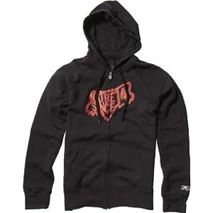 Fox Racing Amulet Front Fleece Men's Hoody Zip Sportswear Sweatshirt/Sweater - Black / X-Large