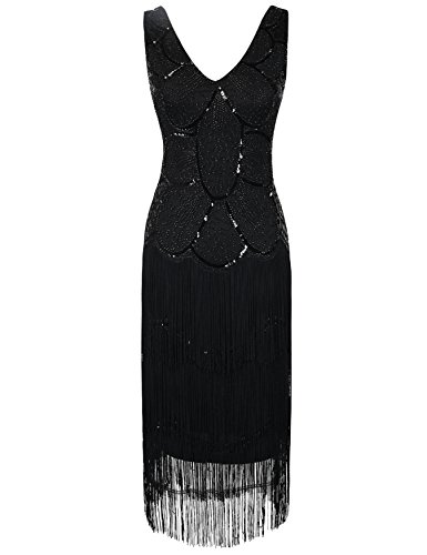 Kayam (Black Fringe Flapper Dress)