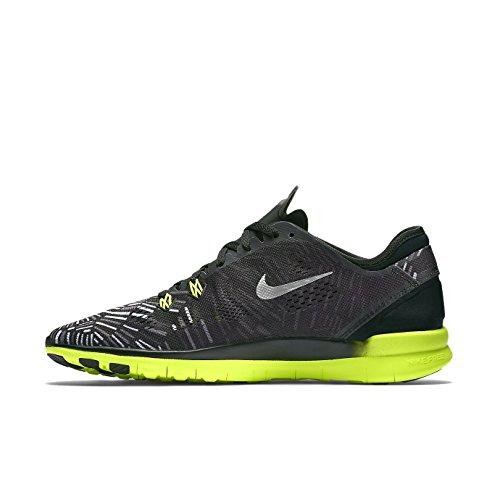 Nike Womens Free 5.0 Tr Fit 5 Prt Training Shoe Women US Black/Volt/Metalic Silver hVZNcXl