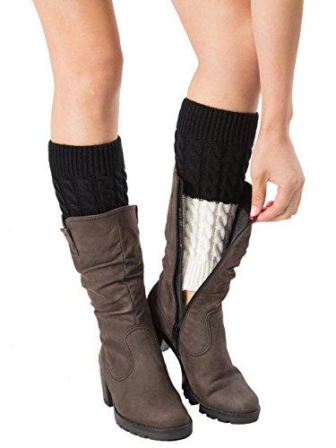 Two Tone Leg Warmers - 3