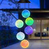 Topspeeder Color Changing Solar Power Wind Chime