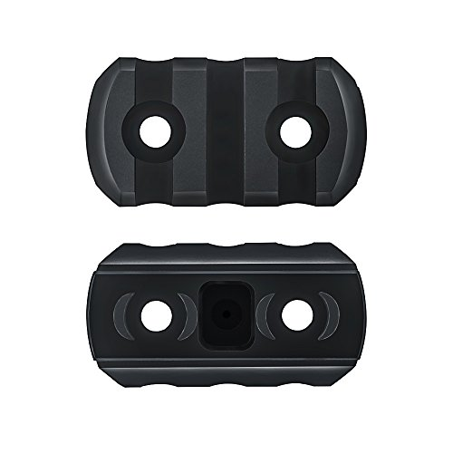 M-Lok Picatinny Rail Section,Omamba 2 Pack 3-Slot Lightweight Polymer Weaver Rail For AR-15 Key Mod Handguard Mount Rail System (Ar 15 Handguard Weaver Rail)