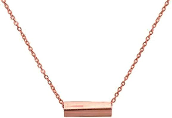 Handmade Necklace 15.5 inch Necklace Rose Gold Plated Necklace Pendant Necklace Teen Necklace Teen Jewelry Faith Necklace