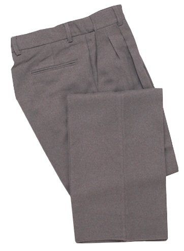 Adams USA Smitty Expanded Waist Pleated Baseball Umpire Combo Pants (Heather Gray, 38-Inch) - Mens Team Pleated Pant