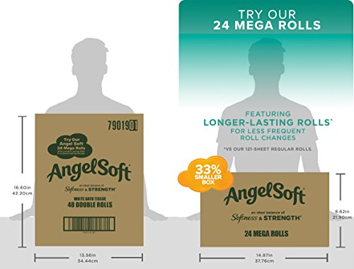 Large Product Image of Angel Soft 2 Ply Toilet Paper, 48 Double Bath Tissue (Pack of 4 with 12 rolls each)