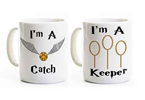 I'm a Catch - I'm a Keeper Couples Mugs