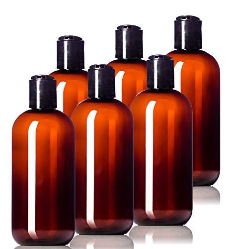 8oz Plastic Amber Bottles