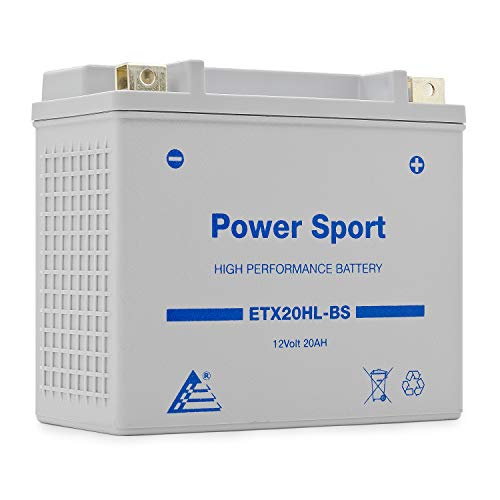 ExpertPower ETX20L-BS 12v20ah YTX20L-BS,YTX20HL-BS, GTX20LBS 12v 20 Ah Replacement Sealed Lead Acid Motorcycle Battery Yamaha Big Bear