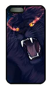 iPhone 5S Case, iPhone 5 Cover, iPhone 5S Angry Lion Hard Black Cases