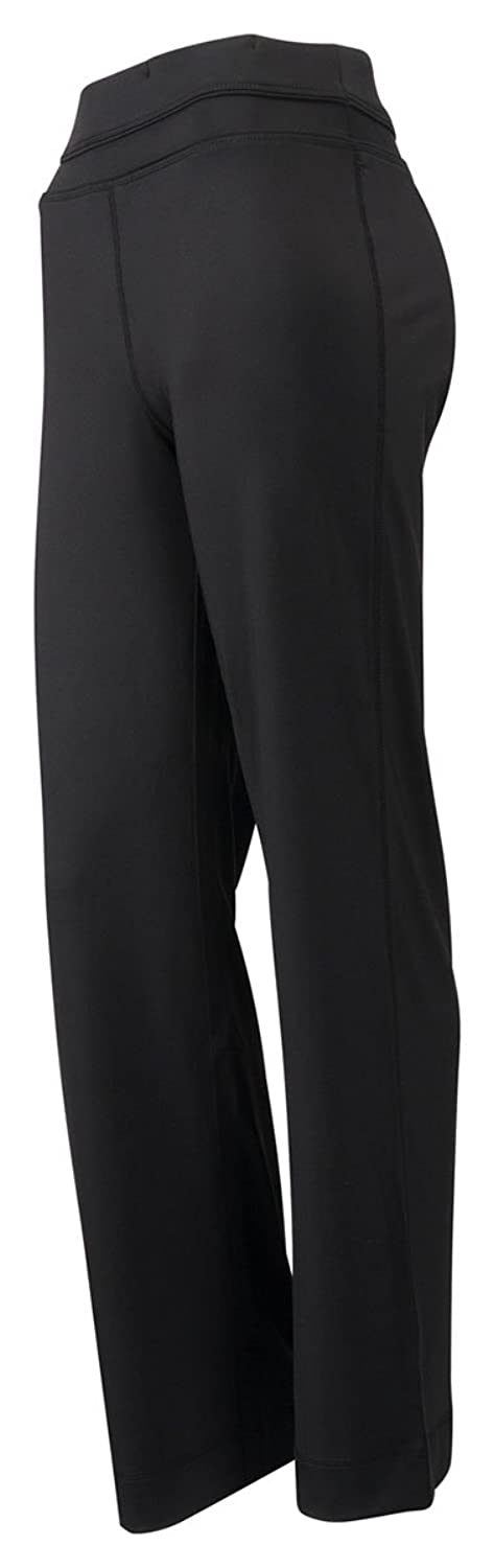 Tri-Mountain Women's Ultracool Smooth Wide Waist Flared Pant, BLACK