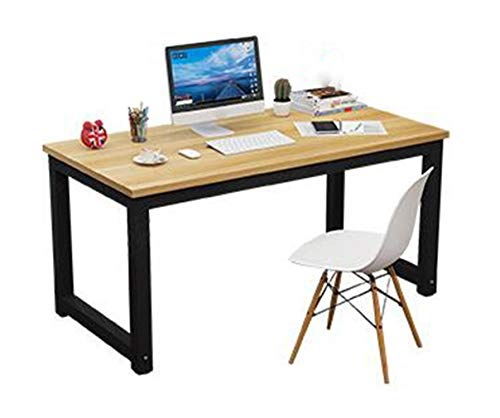 (Computer Desk Desktop Table Small Desk 80X50cm Bedroom Desk Desk Black Bracket 25mm Thick Desktop)