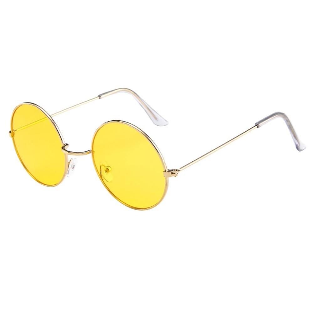 Alixyz Small Round Polarized Sunglasses Mirrored Lens Unisex Glasses (M, G)