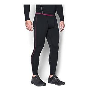 Under Armour Men's ColdGear Armour Compression Leggings, Black/Tropic Pink, XX-Large