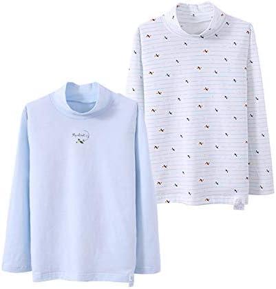 インナーシャツ 男の子 肌着 女の子 長袖シャツ キッズ 2枚組 綿 花柄 タートルネック 下着 Tシャツ 女児 インナー ベビー 部屋着 男 児幼児 幼稚園 小学生 可愛い