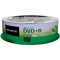 Sony 25DPR47SP -  Bobina de 25 DVD+R grabables, 4.7 GB 1x-16x