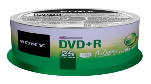 Sony 25DPR47SP 16x DVD+R 4.7GB Recordable DVD Media - 25 Pack Spindle by Sony (Image #2)