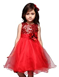 Pettigirl Girls Sequin Bodice Special Occasion Toddler Flower Girl Dress 1-5 Y