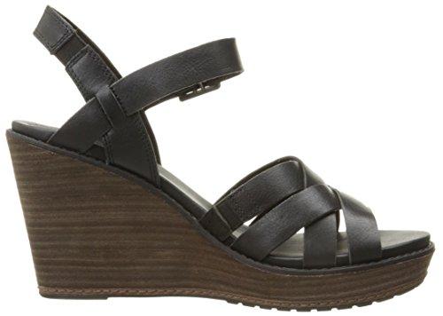 mujer de las sandalias de cuña con TIMBERLAND A13G7 Negro