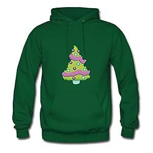 Christmas Tree 1 Custom X-large Hoodies Women Cotton For Green