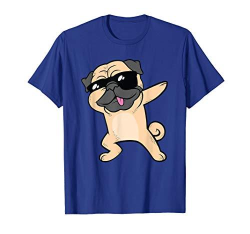 Dabbing Pug TShirt Dog Dab Animal Cool Sunglasses Cute Shirt