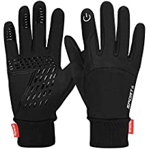 Yobenki Touch Screen Gloves, Waterproof Warm Gloves Cycling Gloves for Cycling, Running, Climbing and Winter Outdoor Sports Men & Women
