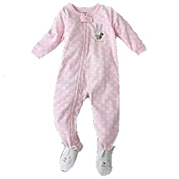 Carter/'s Toddler Girl/'s Puppy Dog Face Gray Fleece Blanket Pajama Sleeper