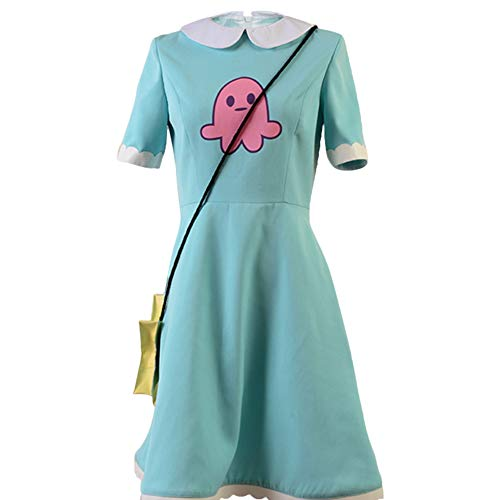SIDNOR Star vs. The Forces of Evil Princess Star Butterfly Cosplay Costume Attire Outfit (X-Small) Green]()