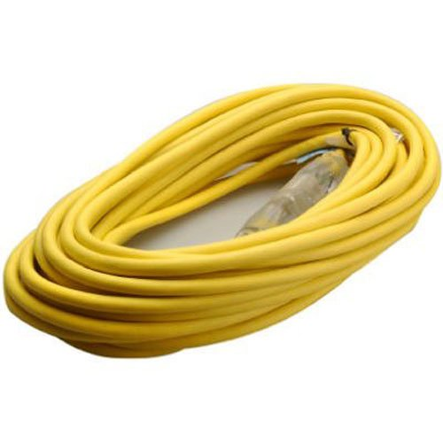 Coleman Cable 01488 14/3 Insulated Outdoor Extension Cord with Lighted End, 50-Foot