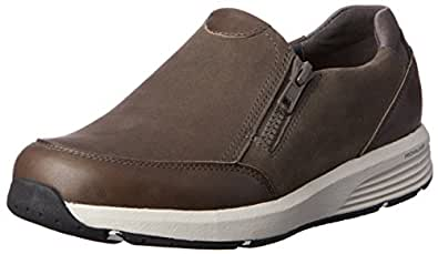 ROCKPORT Women's Casual Walking Trustride Size Zip Shoe, Dark Grey, 6 US